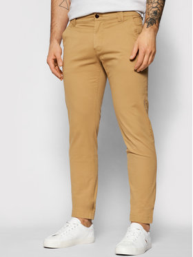 Tommy Jeans Tommy Jeans Чино панталони Scanton DM0DM09595 Кафяв Slim Fit