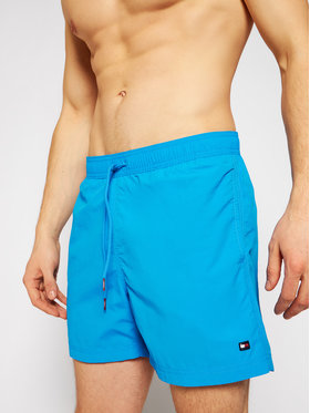 Tommy Hilfiger Tommy Hilfiger Σορτς κολύμβησης Sf Medium Drawstring UM0UM02041 Μπλε Regular Fit