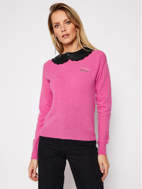 Pinko Pinko Sweter Friends AI 20-21 PRR 1N1305 Y75G Różowy Regular Fit