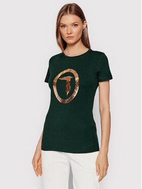 Trussardi Trussardi T-Shirt 56T00421 Zielony Regular Fit