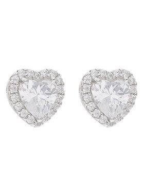 Michael Kors Michael Kors Сережки Bril Heart Stud MKC1519AN040 Срібний