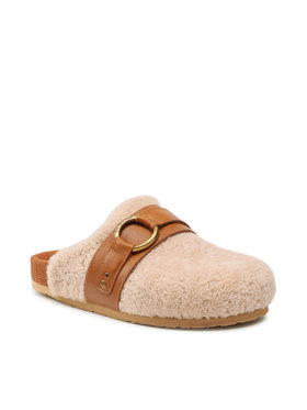 See By Chloé See By Chloé Hausschuhe Curly Sheep 113 Desert SB37181A Beige