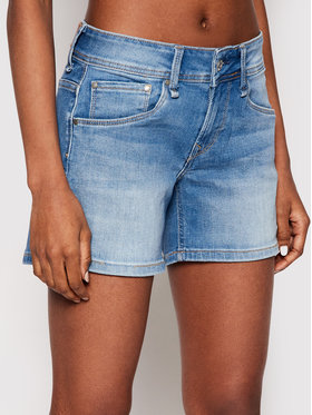 Pepe Jeans Pepe Jeans Pantaloncini di jeans Siouxie PL800685 Blu Regular Fit