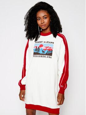Tommy Jeans Tommy Jeans Sukienka dzianinowa Ski DW0DW08889 Biały Boyfriend Fit