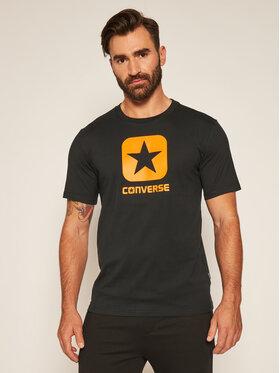 Converse Converse Póló Box Star 10019936-A02 Fekete Regular Fit