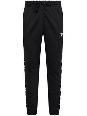 Reebok Reebok Teplákové kalhoty Essentials Tape GQ4215 Černá Regular Fit