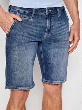 Guess Guess Džinsiniai šortai M1GD04 D4B71 Tamsiai mėlyna Slim Fit