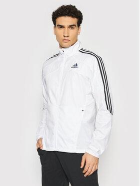 adidas adidas Kurtka do biegania Marathon 3-Stripes GK6111 Biały Regular Fit