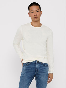 Only & Sons ONLY & SONS Sweter Garson 22006806 Biały Slim Fit