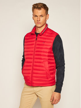 TOMMY HILFIGER TOMMY HILFIGER Vestă Packable Down MW0MW14607 Roșu Regular Fit
