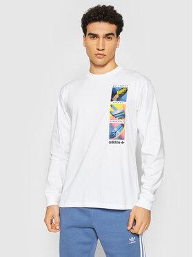 adidas adidas Тениска с дълъг ръкав Summer Icons Tee H31312 Бял Regular Fit