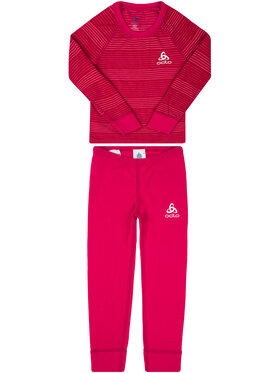 Odlo Odlo Ensemble sous-vêtements termiques Set Active Warm 150409 Rose Slim Fit