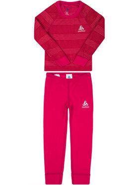 Odlo Odlo Komplet bielizny termoaktywnej Set Active Warm 150409 Różowy Slim Fit