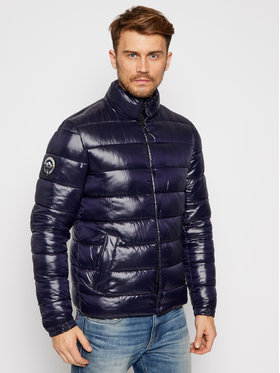 Superdry Superdry Pūkinė striukė High Shine Quilted M5010414A Tamsiai mėlyna Regular Fit