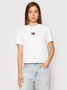 Tommy Jeans Tommy Jeans T-Shirt Tjw Center Badge DW0DW10404 Bílá Regular Fit