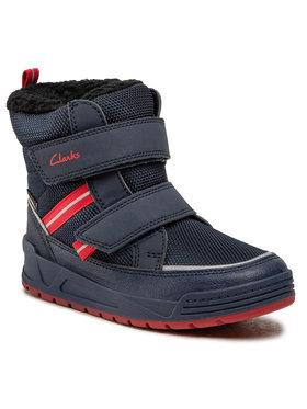 Clarks Clarks Stivali da neve Jumper Jump K 261535807 Blu scuro
