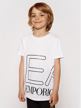 EA7 Emporio Armani EA7 Emporio Armani T-shirt 3KFT54 FJ7CZ 1100 Bijela Regular Fit