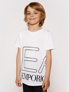 EA7 Emporio Armani EA7 Emporio Armani T-shirt 3KFT54 FJ7CZ 1100 Blanc Regular Fit