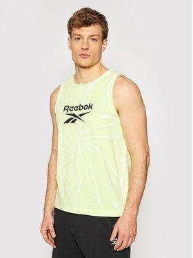 Reebok Reebok Мъжки топ Classics Tie-Dye GL2315 Жълт Loose Fit