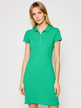 Tommy Hilfiger Tommy Hilfiger Ежедневна рокля Pique WW0WW27949 Зелен Slim Fit