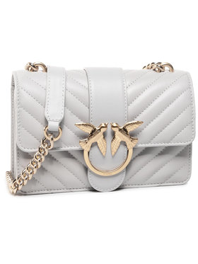 Pinko Pinko Handtasche Love Mini Icon V Quilt Cl. AI 20-21 PLTT 1P21TL Y6KT Grau