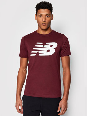 New Balance New Balance T-Shirt MT03919 Bordowy Regular Fit