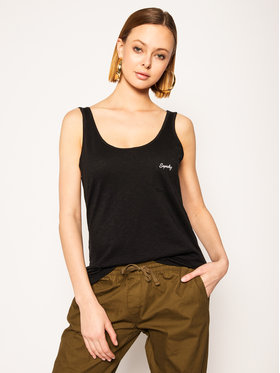 Superdry Superdry Top Essential W6010032A Czarny Oversize