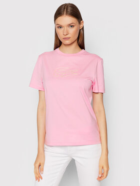 Lacoste Lacoste Тишърт TF7087 Розов Regular Fit
