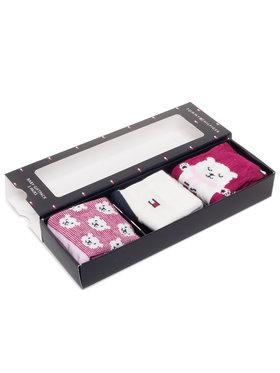Tommy Hilfiger Tommy Hilfiger Set de 3 perechi de șosete lungi pentru copii 100000803 Roz