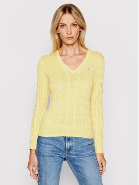 Polo Ralph Lauren Polo Ralph Lauren Sweater Lsl 211580008073 Sárga Regular Fit