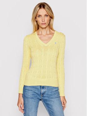 Polo Ralph Lauren Polo Ralph Lauren Sweter Lsl 211580008073 Żółty Regular Fit