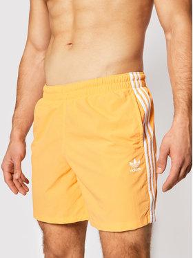 adidas adidas Pantaloni scurți pentru înot 3-Stripe Swims GN3525 Portocaliu Regular Fit