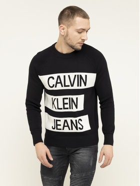 Calvin Klein Jeans Calvin Klein Jeans Svetr J30J314117 Černá Regular Fit
