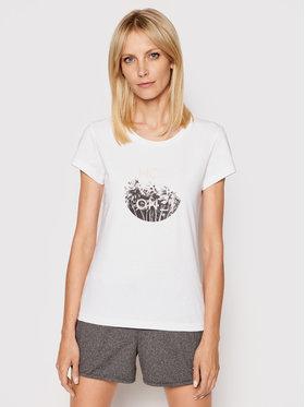 4F 4F T-Shirt H4L21-TSD029 Biały Regular Fit