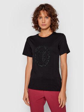 Trussardi Trussardi T-Shirt 56T00424 Czarny Regular Fit