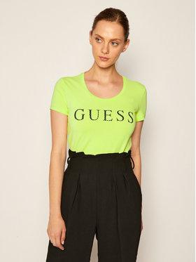 Guess Guess Tricou Emma W0YI0F J1300 Verde Regular Fit