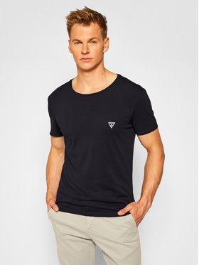Guess Guess T-Shirt U97M00 JR003 Μαύρο Slim Fit