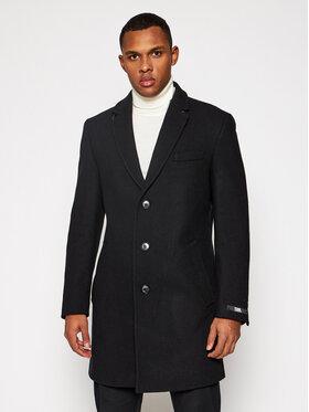 KARL LAGERFELD KARL LAGERFELD Gyapjú kabát Twister 502704 455704 Fekete Regular Fit