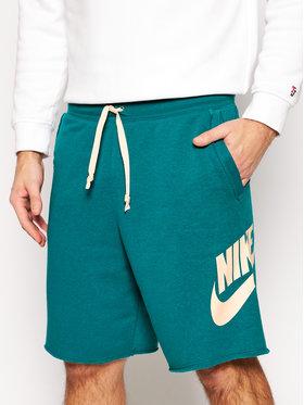 Nike Nike Szorty sportowe Sportswear Alumni AR2375 Zielony Loose Fit