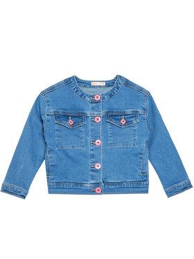 Billieblush Billieblush Džínsová bunda U16275 Modrá Regular Fit