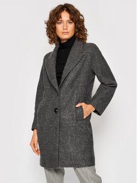 Peserico Peserico Prechodný kabát S20052 Sivá Relaxed Fit