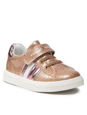 Tommy Hilfiger Tommy Hilfiger Sneakersy Love Cut Lace-Up T1A4-31149-1238 S Złoty