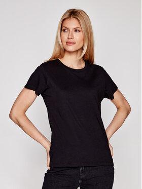 Samsøe Samsøe Samsøe Samsøe T-Shirt Solly Solid F00012050 Czarny Regular Fit