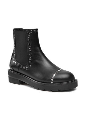 Stuart Weitzman Stuart Weitzman Kotníková obuv s elastickým prvkem Frankie S5762 Černá