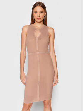 Pinko Pinko Úpletové šaty Recioto 1G167V Y77K Béžová Slim Fit