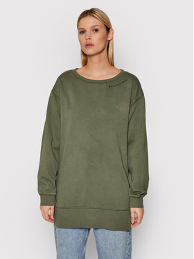 Roxy Roxy Суитшърт Meeting Up ERJKD03380 Зелен Relaxed Fit