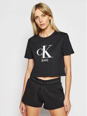 Calvin Klein Jeans Calvin Klein Jeans Marškinėliai J20J215312 Juoda Regular Fit