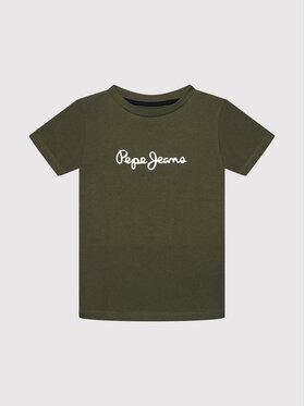 Pepe Jeans Pepe Jeans Тишърт Art New PB503193 Зелен Regular Fit