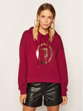 Trussardi Jeans Trussardi Jeans Pulóver Sweatshirt Hooded 56F00102 Bordó Regular Fit