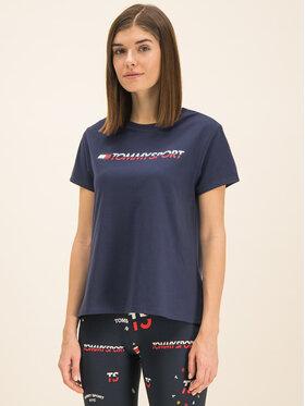 Tommy Sport Tommy Sport Marškinėliai Tee Logo S10S100061 Tamsiai mėlyna Regular Fit